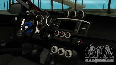 Mitsubishi Lancer Evolution X WBK for GTA San Andreas right view