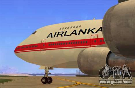 Boeing 747-200 Air Lanka for GTA San Andreas back left view