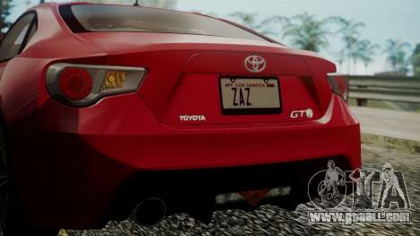 Toyota GT86 2012 LQ for GTA San Andreas bottom view