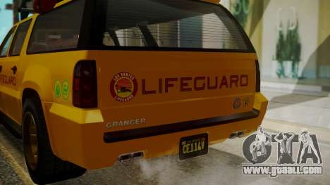 GTA 5 Declasse Granger Lifeguard IVF for GTA San Andreas side view