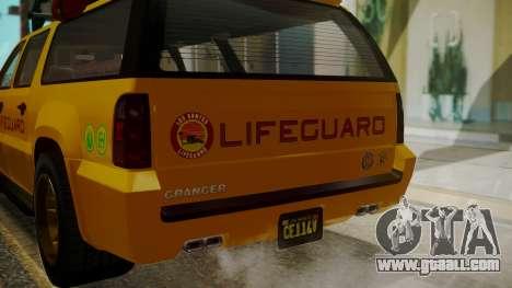 GTA 5 Declasse Granger Lifeguard IVF for GTA San Andreas side view
