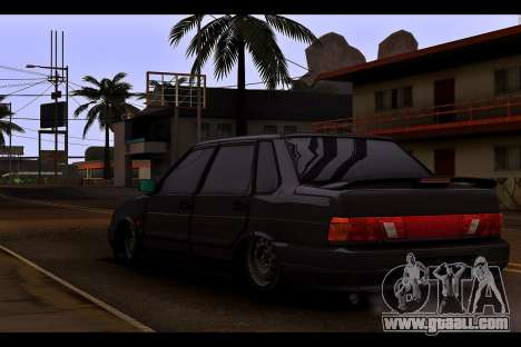 VAZ 2115 for GTA San Andreas back left view