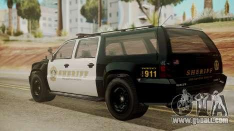 GTA 5 Declasse Granger Sheriff SUV IVF for GTA San Andreas left view