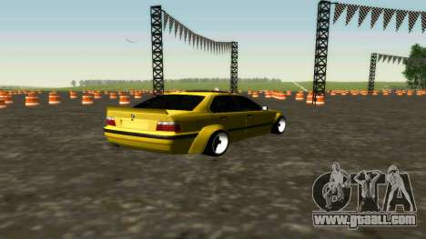 BMW 320i E36 Wide Body Kit for GTA San Andreas back left view
