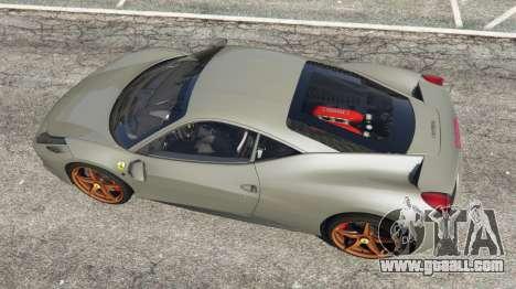 GTA 5 Ferrari 458 Italia 2009 v1.4 back view