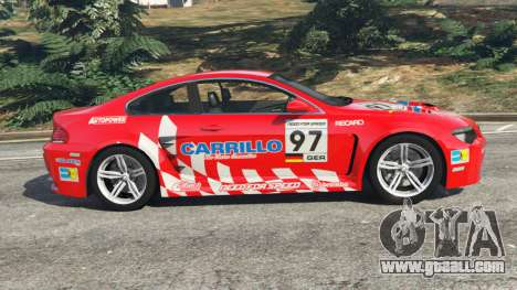 GTA 5 BMW M6 (E63) WideBody v0.1 [Carrillo] left side view