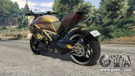 GTA 5 Ducati Diavel Carbon 11 v1.1 rear left side view