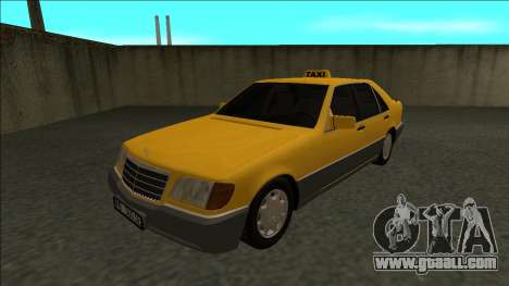 Mercedes-Benz W140 500SE Taxi 1992 for GTA San Andreas back left view