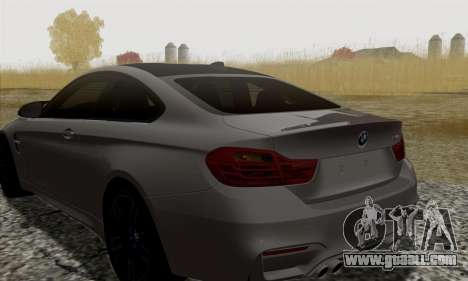 BMW M4 F82 for GTA San Andreas back view