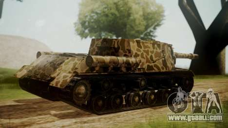 ISU-152 Panther Desert from World of Tanks for GTA San Andreas left view