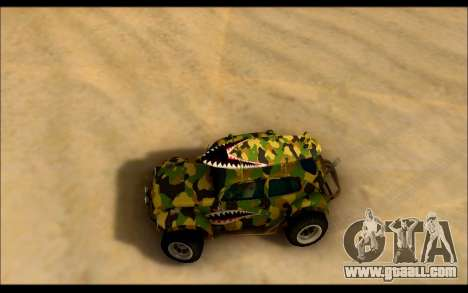 Volkswagen Baja Buggy Camo Shark Mouth for GTA San Andreas right view