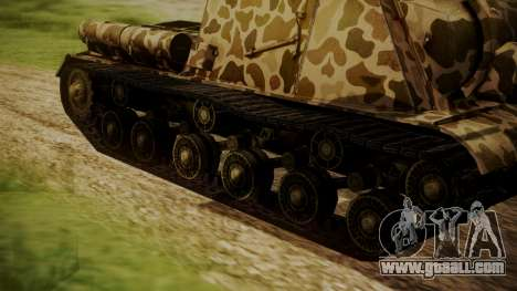ISU-152 Panther Desert from World of Tanks for GTA San Andreas back left view