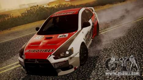 Mitsubishi Lancer Evolution X 2015 Final Edition for GTA San Andreas side view