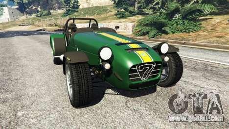 Caterham Super Seven 620R v1.5 [green] for GTA 5