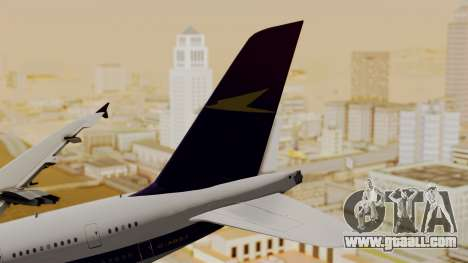 Airbus A380-800 British Overseas Airways Corp. for GTA San Andreas back left view