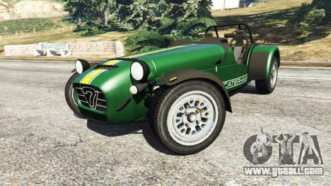 GTA 5 Caterham Super Seven 620R v1.5 [green] right side view