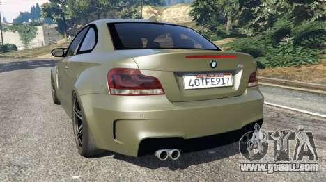 GTA 5 BMW 1M v1.2 rear left side view