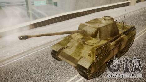 Panzerkampfwagen V Ausf. A Panther for GTA San Andreas