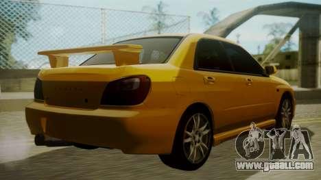 Subaru Impreza WRX GDA for GTA San Andreas left view