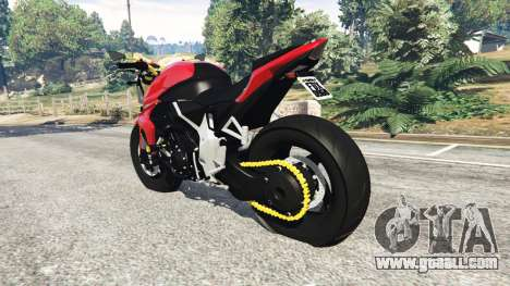GTA 5 Honda CB1000R rear left side view