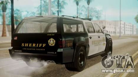GTA 5 Declasse Granger Sheriff SUV for GTA San Andreas left view