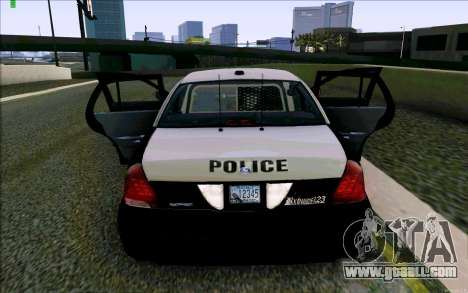 Weathersfield Police Crown Victoria for GTA San Andreas bottom view