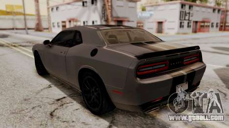 Dodge Challenger SRT Hellcat 2015 HQLM PJ for GTA San Andreas engine