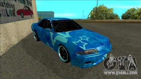 Nissan Skyline R32 Drift Blue Star for GTA San Andreas left view