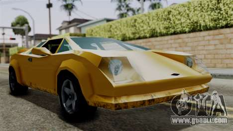 Infernus from Vice City Stories for GTA San Andreas back left view