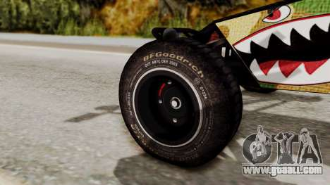 Buggy Camo Shark Mouth for GTA San Andreas right view