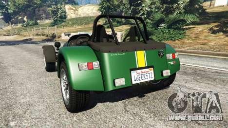 GTA 5 Caterham Super Seven 620R v1.5 [green] rear left side view