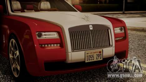Rolls-Royce Ghost v1 for GTA San Andreas inner view