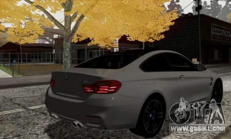 BMW M4 F82 for GTA San Andreas back left view