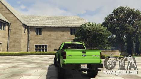 GTA 5 Ford F150 SVT Raptor 2012 v2.0 rear left side view