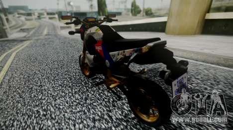 Honda MSX 125C Khmer for GTA San Andreas left view