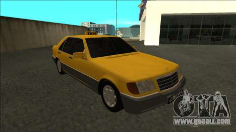 Mercedes-Benz W140 500SE Taxi 1992 for GTA San Andreas back view