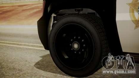 GTA 5 Declasse Granger Sheriff SUV IVF for GTA San Andreas back left view