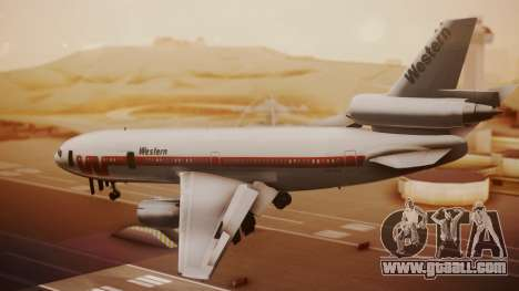 DC-10-10 Western Airlines for GTA San Andreas left view
