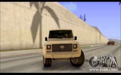 Benefactor Dubsta Jurassic World Paintjob for GTA San Andreas back left view