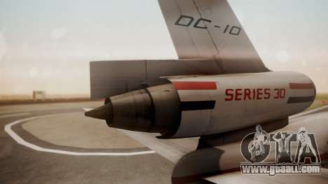 McDonnell-Douglas DC-10 Prototype N1339U for GTA San Andreas back left view