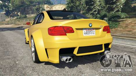 GTA 5 BMW M3 (E92) WideBody v1.1 rear left side view
