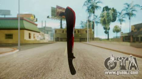GTA 5 Machete (From Lowider DLC) Bloody for GTA San Andreas second screenshot