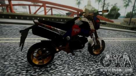 Honda MSX 125C Khmer for GTA San Andreas back left view