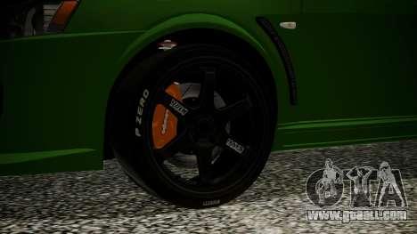 Mitsubishi Lancer Evolution X WBK for GTA San Andreas back left view