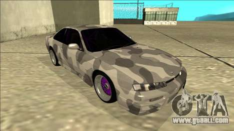 Nissan Silvia S14 Army Drift for GTA San Andreas left view