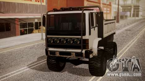 DFT Monster Truck 30 for GTA San Andreas back left view