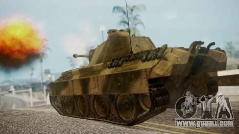 Panzerkampfwagen V Ausf. A Panther for GTA San Andreas left view