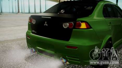 Mitsubishi Lancer Evolution X WBK for GTA San Andreas upper view