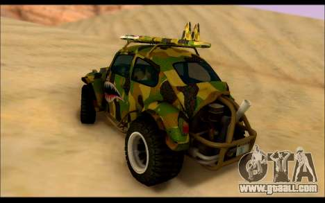 Volkswagen Baja Buggy Camo Shark Mouth for GTA San Andreas back left view