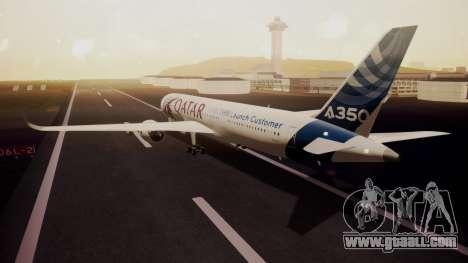 Airbus 350-900XWB Qatar Launch Customer for GTA San Andreas left view